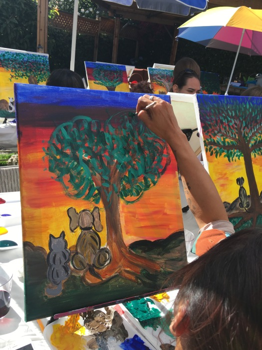 A Non Profit That Benefits Homeless Animals In Honor Of The We Painted Dog And Cat Watching Sunset Results Were Magnificent