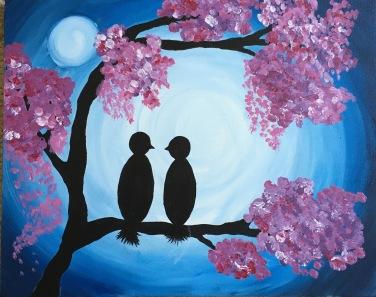 Birds in the Moonlight